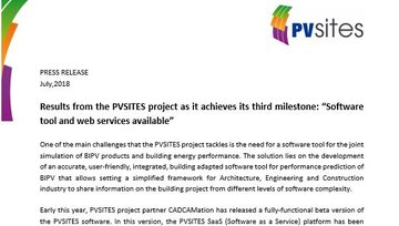 "Press release - Milestone #2 achieved: ""Software tool and web services available"""